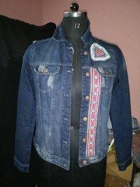 Boho gypsy hippie style denim jacket