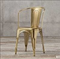 Rose gold Finish Industrial Metal Chair