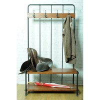 Hall Bench with Coat Rack