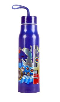 V Water Bottle Blue