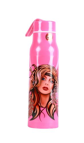 V Water Bottle Pink