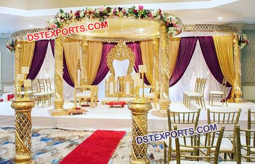 Modern Crystal Wedding Mandap Set