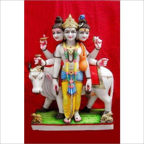 Marble Dattatrey Statue