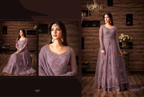 Designer Net Embroidered Salwar Kameez