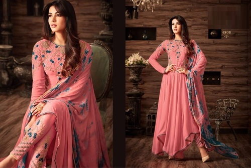 Trendy Designer Long Georgette Suit