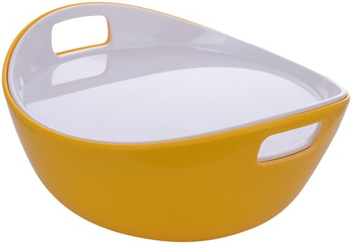 Serving Bowl Yellow White