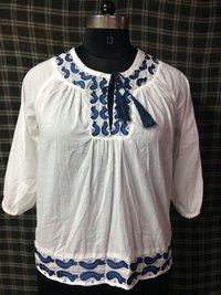 Embroidery Women Tops