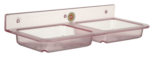 Double Soap Dish - Square Pink
