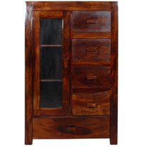 Handcrafted Cabinet in Walnut Finish by Wudstuk
