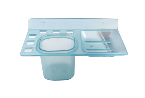 Single Soap Dish with Tumbler  Blue