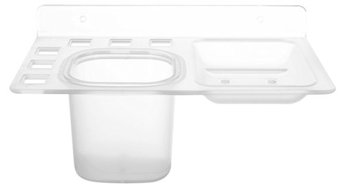 Single Soap Dish with Tumbler  Clear