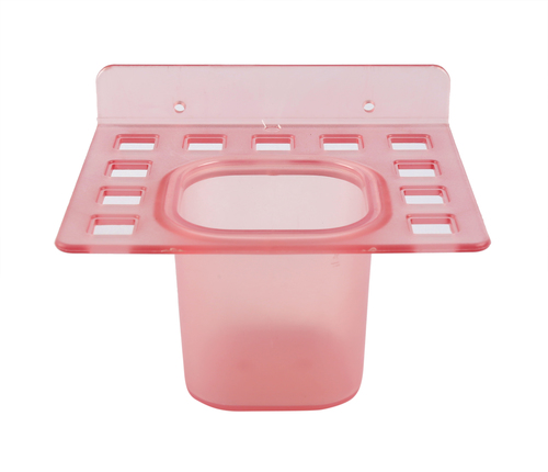 Brush Holder with Tumbler  Pink