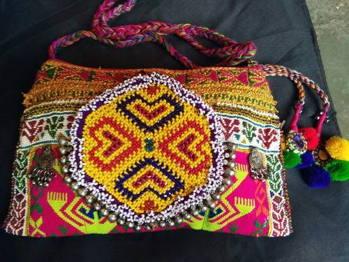 Embroidery Beeds sling Clutch
