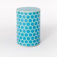 Luxury Design Round shape honeycomb design bone inlay stool