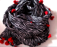 Zebra Print Scarves