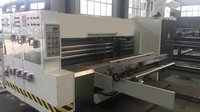 LEAD EDGE 2 COLOUR SMALL SIZE FLEXO PRINTING,DIE PAD MODEL SLOTTING WITH STACKER
