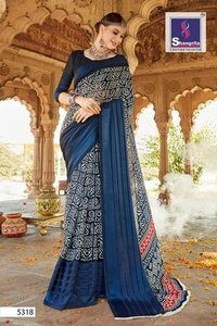Satin Border Georgette Saree