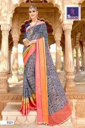 Printed Designer Georgette Saree