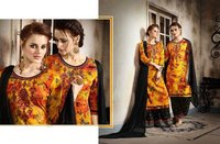 COTTON SATIN FABRIC SALWAR KAMEEZ