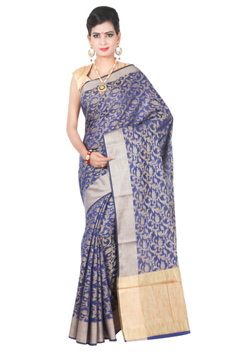 COTTON HANDLOOM WEAWING FLOWER DESIGNER SAREE