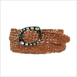 Ladies Braided Leather Belts