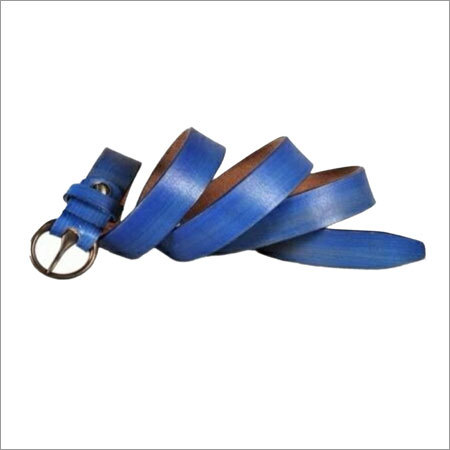 Leather Blue Color Belts