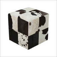 Designer Leather Pouf