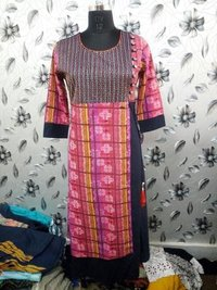 Rayon Printed Double Layer Kurti