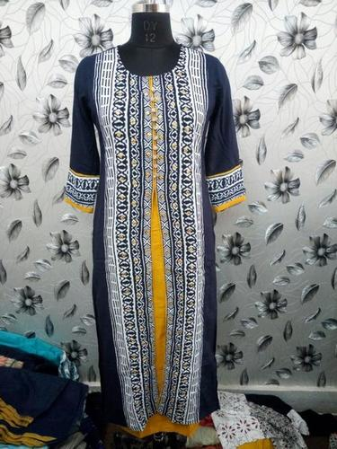 Regular Rayon Printed Kurtis