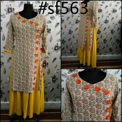 Rayon Slub Double Layer Kurti