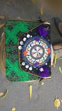 Green Color Banjara Ethnic Bags