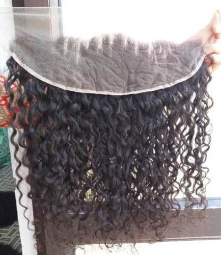 Natural Remy Curly Transparent Swiss Lace Frontal