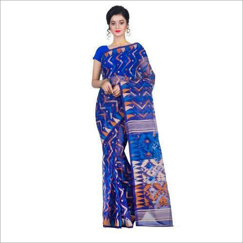 Ladies Blue Jamdani Saree