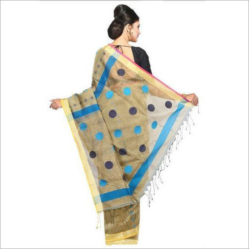 Womens Linen Saree