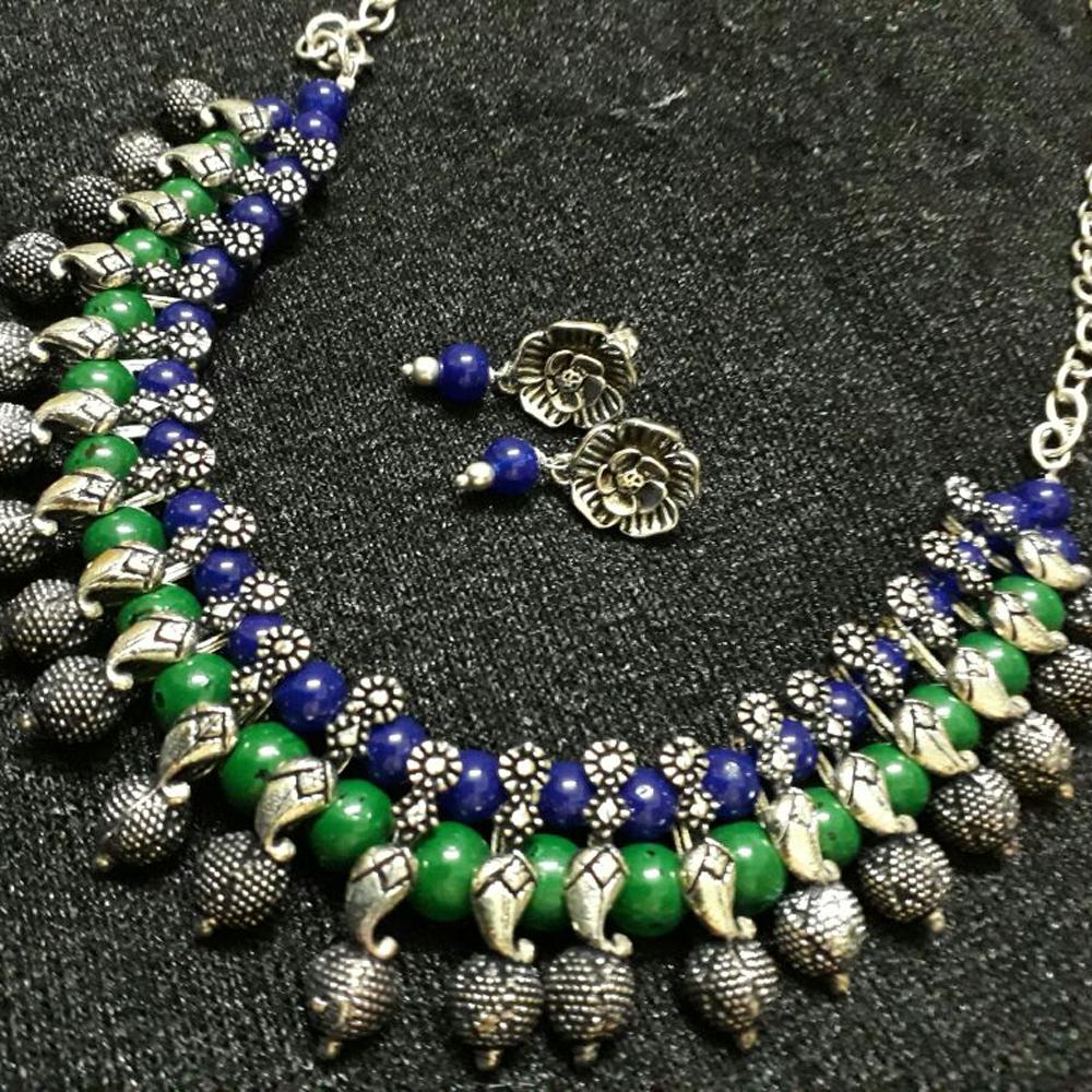Rudraksh Patern Necklace Set