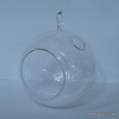 GLASS TERRARIUM,GLASS CLR FLOWER HANGING,GLASS T-LIGHT HANGING