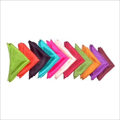 Plain Coloured Silk Scarves