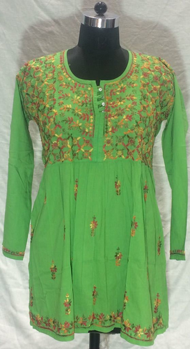 Ethnic Green Kurti For Ladies
