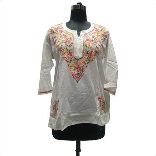 Ladies cotton lucknowi chikan blouse