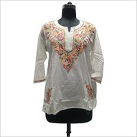 Ladies cotton lucknowi chikan blouse