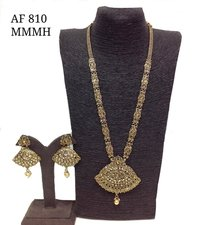 Polki Long Necklace Set AF 810