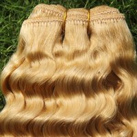 BULK CURLY BLONDE HAIR