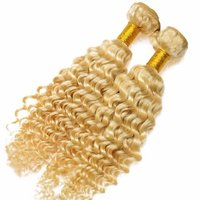 WEFT CURLY BLONDE HAIR