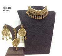 Polki Necklace Set Mna 210
