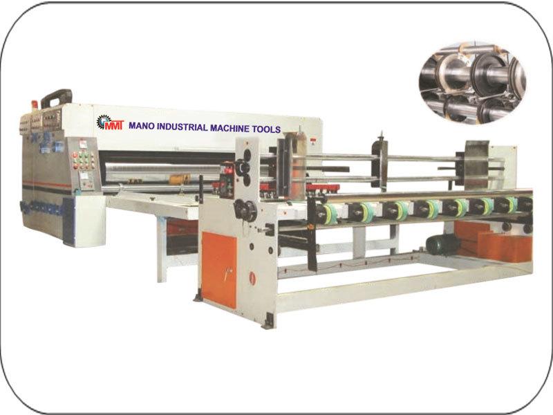 Chain Feed Single Col Flexo Printer Rotary Die Cutter Machine
