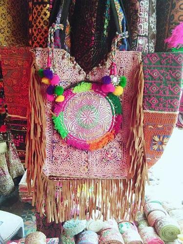 Handmade Banjara fringes Gypse Bag
