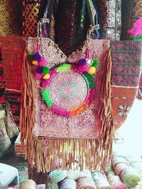 Handmade Banjara fringes Gypse Bag