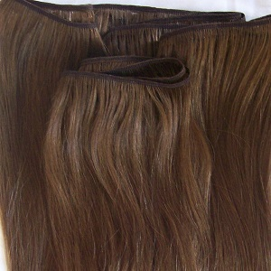 BROWN HAND WEFT HAIR