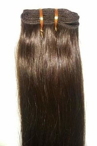 NATURAL BROWN REMY WEFT HAIR