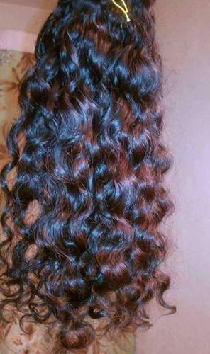 NATURAL CURLY REMY WEFT HAIR